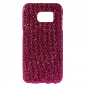 Samsung Galaxy S7 hot pink glitter suojakuori.
