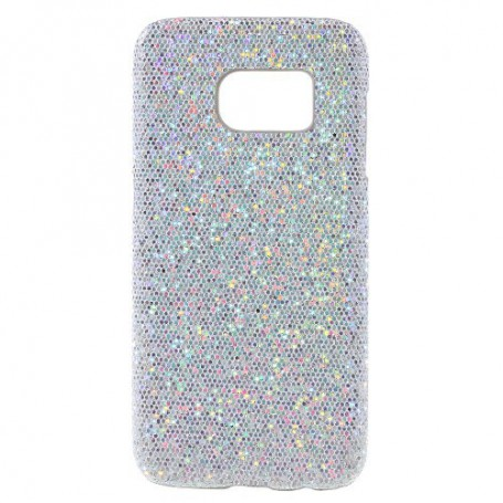 Samsung Galaxy S7 hopea glitter suojakuori.