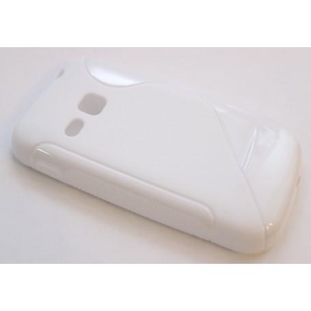 Galaxy S2 Mini valkoinen silikonisuojus.
