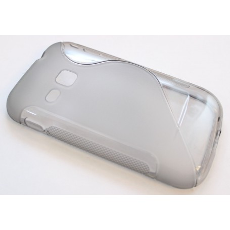 Galaxy S2 Mini läpinäkyvä silikonisuojus.