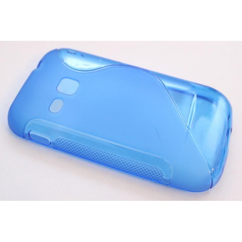 Galaxy S2 Mini sininen silikonisuojus.